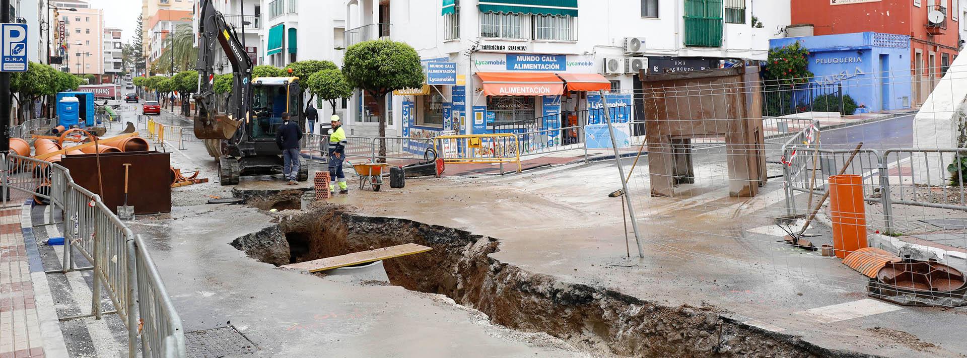 Comienzan los trabajos de mejora del saneamiento en la Avenida Oriental