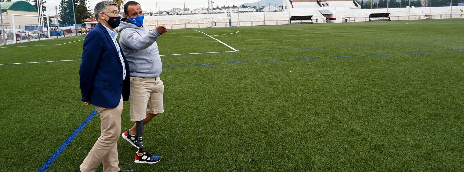 Comineza la remodelación integral del Estadio de Fútbol Antonio Naranjo de San Pedro Alcántara