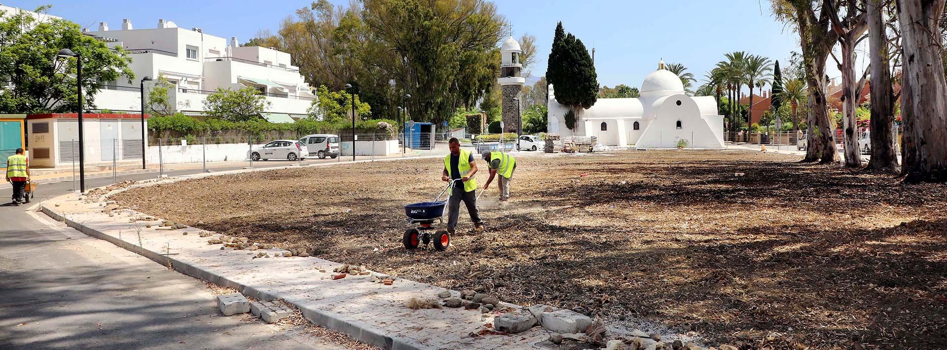 Obras en la Urbanización Guadalmina Baja