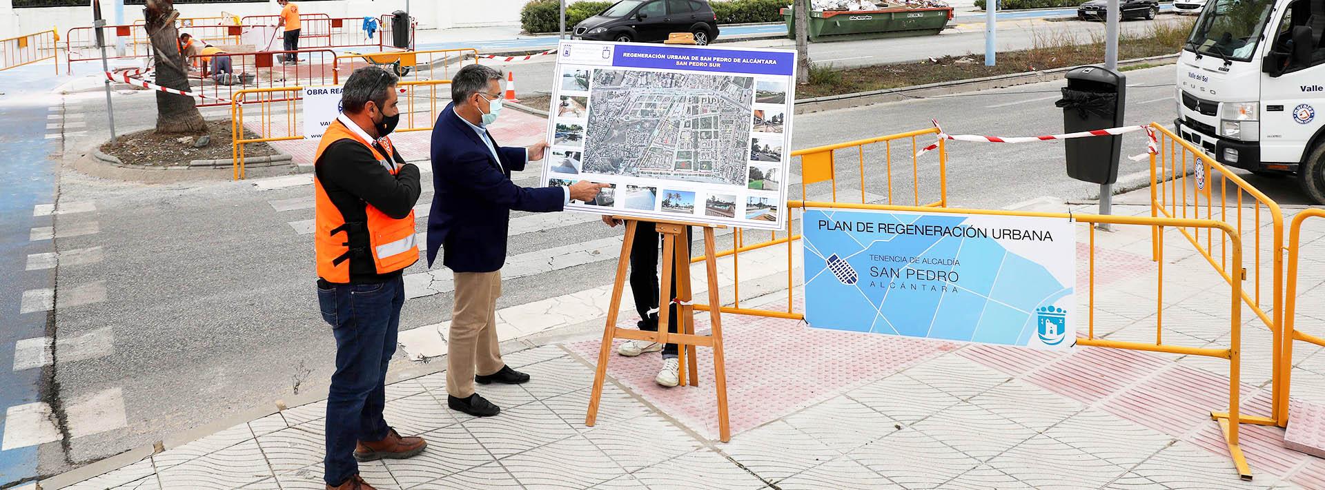 Siguen las obras en la zona sur de San Pedro Alcántara