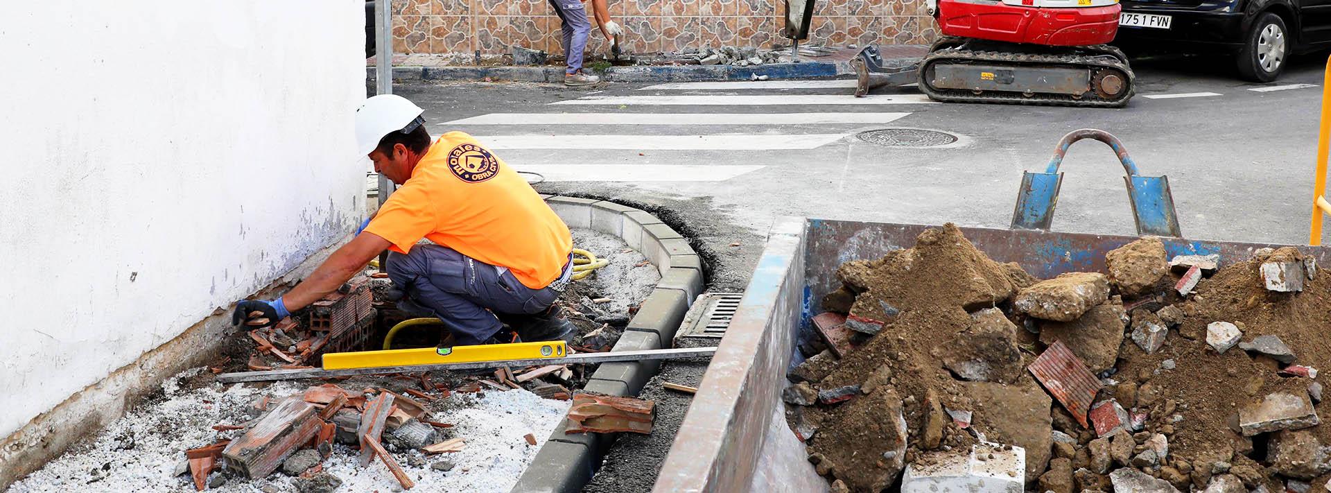 Obras en el entorno de la Calle Pepe Osorio de San Pedro Alcántara