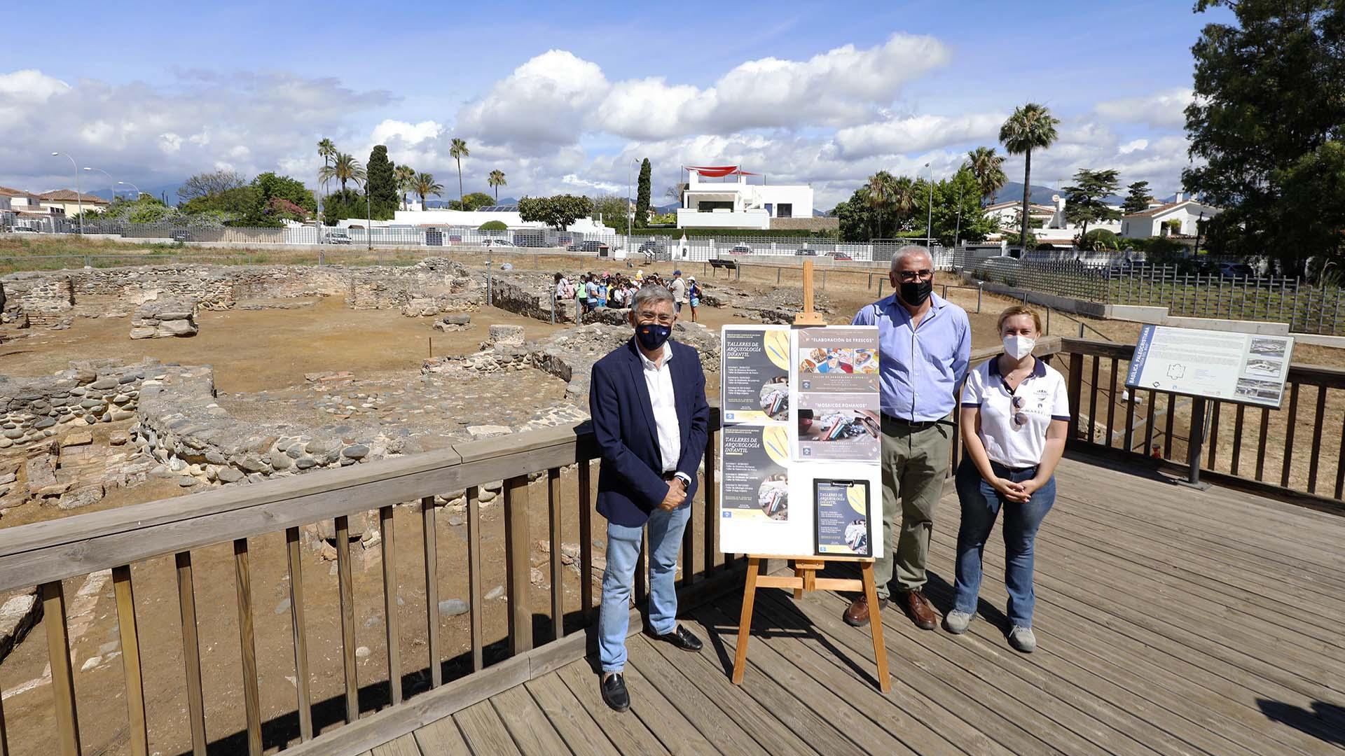 Talleres arqueológicos infantiles para divulgar el patrimonio histórico de San Pedro Alcántara